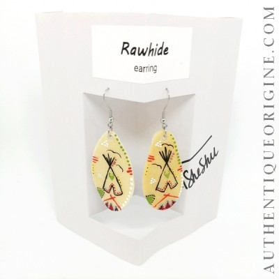 Boucle d'oreille rawhide Tipi