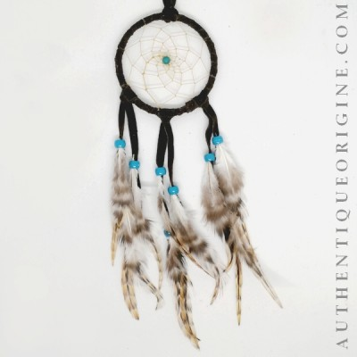 Gray Dreamcatcher and Partridge Feathers # au0122-04