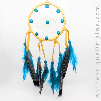 Red Dreamcatcher and Cock and Partridge Feathers # au0173-05