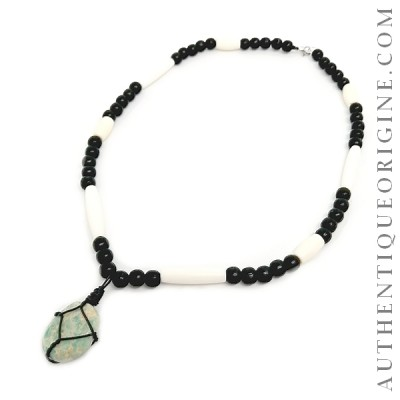 Collier pierre Amazonite