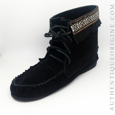 moccasin woman fringes #37594BL