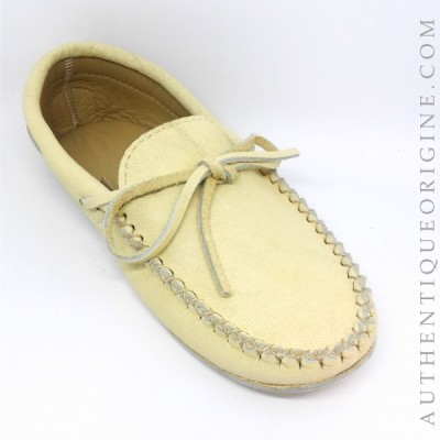 moccasin man caribou leather lined with cushioned leather